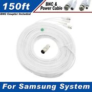 150 Ft Security Camera Cable For Samsung Sde-3004n And Other Security System