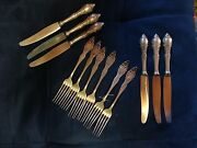 Oslo Norway J.tostrup 6 Forks And 6 Knifes Silver 830 From 1904 Real Antique