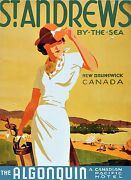 2859.algonquin Canada Hotel.golf Poster.travel Decoration For Roomkitchen