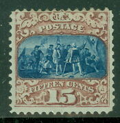 Us 119 15andcent Brown And Blue Type Ii Fresh Og Hinged Rare Stamp Pse Certificate