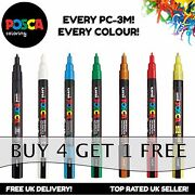 Uni Ball Posca Pc-3m Paint Art Marker Pens - All 40 Colours - Buy 4 Pay For 3