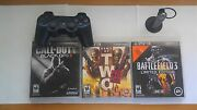 Black Ops 2 Battlefield 3 Army Of Two 40th Day Ps3 Controller Ps3 Headset
