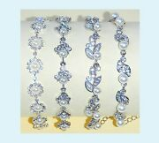 Diamond Crystal Bling Effect Party Prom Costume Jewellery Faux Pearl Bracelet