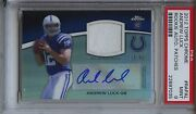 2012 Topps Chrome Rookie Autograph Auto Patches Andrew Luck Psa 9 Mint 2/50