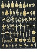 14k Gold Layered Charm Pendants Choose Your Favorite