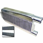 Universal Bar And Plate Turbo Aluminum Intercooler 23x11x3 Same Side Inlet And Outle