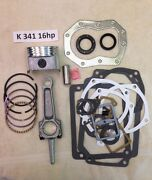 Engine Rebuild Kit For Kohler 16hp K341 And M16 With An Actual 16hp Rod