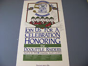Doolittle Raiders 50-year Reunion Event Promo Poster Signed By 18 Participants
