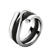 Georg Jensen White Gold Ring With Rubber Band - Magic 1314