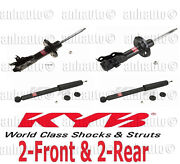 4-kyb Excel-gandreg Struts/shock 2-front And 2-rear Civic Coupe 2006 To 2011