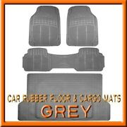 Fits 3pc Gmc Jimmy Premium Grey Rubber Floor Mats And 1pc Cargo Trunk Liner Mat