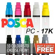 Uni Posca Pc-17k Paint Markers Large Chisel Tip - 10 Colours - Buy 4 Pay For 3
