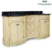 Elements Vanity With Preassembled Top And Bowl Van014d-72-t New - Qty 1