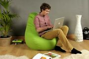 Bean Bag Gaming Pod Xbox Ps4 Cotton Adult High Back Chair Lounge Living Room