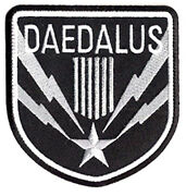 Stargate Sg-1 Daedalus Screen Accurate Silver 4 Patch- Usa Mailed Sgpa-41