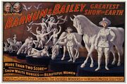 6979.barnum And Bailey.people And Animals In White.poster.art Wall Decor
