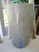 "George Smyth Pottery Crystalline Glazed Vase 5.75"" WHITE FROST Signed MINT"