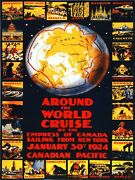 7970.canada Pacific.empress Of Canada.around The World.poster.art Wall Decor