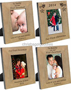 Personalised Photo Frame For Our 1st First Mothers Fathers Day Gifts Mum Dad