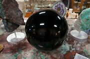 Amazing 36 Inch Round 40 Lbs. Obsidian Sphere Shipped From The Usa