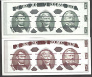 Set Of=experimental Printings From Genuine Currency Plates=giori=gem New