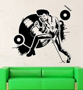 Wall Stickers Vinyl Decal Rock And039n Roll Music Star Disco Night Club Ig2297