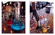 New Mad Scientist Test Tube Ice Decanter With 2 Piece Glass And Stopper