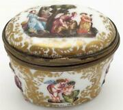 18th Cen. Very Early Capodimonte Porcelain Snuff / Trinket Box