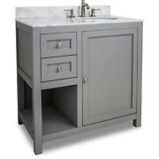 Jeffrey Alexander Vanity With Preassembled Top And Bowl Van103-36-t New - Qty 1