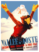 9841.vallee D'aoste.woman With Open Arms In Snow.poster.home Decor Graphic Art
