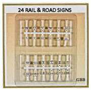 N Scale 24 Rail And Road Signs Ready To Use Bulk Buy Model Power New 1312