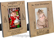 Personalised First My 1st Christmas Photo Frame Gifts For Baby's Baby Girl Boy