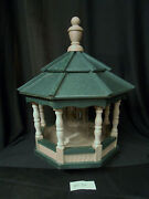 Poly Bird Feeder Amish Gazebo Handcrafted Homemade Clay And Green Roof Md