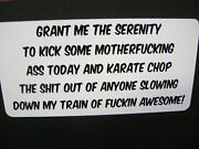 Grant Me The Serenity Sticker For Hot Rods Gasser Rat Rods
