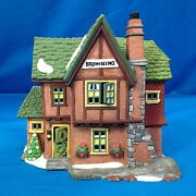 Department 56 Dickensand039 Village Series Browning Cottage 5824-6 Mint In Box