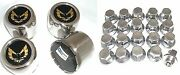 1977 - 1981 Trans Am Snowflake Center Cap And Lug Nut Set Gold Stainless Oe Style
