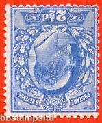 Sg. 276 Wi. M17 2 A. 2andfrac12d Bright Blue. Inverted Watermark. Unmounted Mint