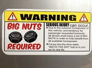 Warning Big Nuts Required For Hot Rods Gasser Rat Rods