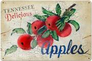 Tennessee Apples Country Living Vintage Distressed Metal Sign Wall Decor Aif092