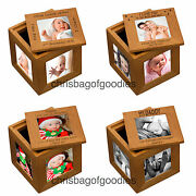 Personalised Oak Wood Wooden Multiple Multi Aperture Picture Photo Frame Cube
