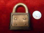 24 Of 45, Old Vtg Antique Yale And Towne Yale Junior Cast Iron Padlock, England