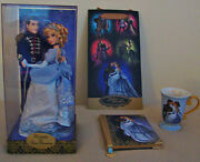 Disney Store Fairytale Cinderella And Doll Limited Edition 6000 And Diary/mug