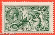 Sg. 404. N72 3. Andpound1.00 Dull Blue Green. A Fine Mounted Mint Example.