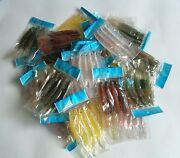 400 New Soft Plastic Fish Worm Fishing Lures Bait 4.75 Wholesale Lots Lure