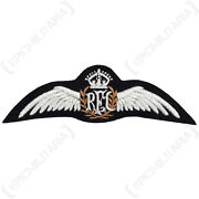 Wwi Royal Flying Corps Wing - British Rfc Pilot Uniform Patch Insignia Repro New