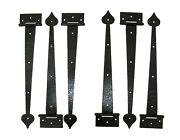 Shed Door Hinges Textured 24 Colonial Strap13 Blk Shed Gates, Doors, Sheds
