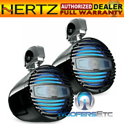 Hertz Htx8m-cl-c 8 Black Rgb Led Wakeboard Tower Speakers And Clamps Pair New