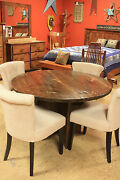 Handmade Reclaimed Amish Table Natural Pine Lumber 5-piece Set