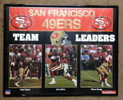 49ers Football Framed Poster Photo Team Legends Picture Jerry Rice Steve Young