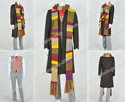 Who Is Doctor Cosplay The 4th Fourth Dr Tom Baker Costume Full Set Include Scarf